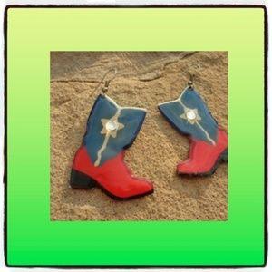 Western Cowgirl Dangle Earrings